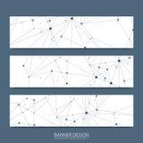 Wektorowi sztandary ustawiają techniki inżynierii i technologii cyfrowej tło Cyfrowej technologii telekomunikacyjny pojęcie wekto obrazy stock