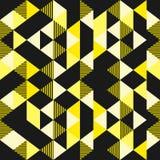 Wektorowi trójboków wzory z czernią i złocistą koloru tła tapetą gotowymi dla moda druku tekstylnej ilustracji royalty ilustracja