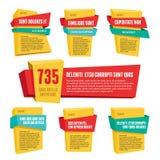 Etykietek odznak sztandarów Origami 3D wektor Obrazy Royalty Free