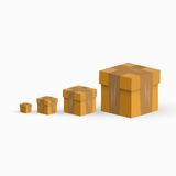 Wektorowi wysyłek pudełka Zdjęcie Stock