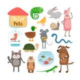 Wektorowi zwierzęta domowe ilustracji