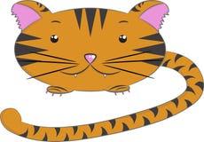 Wektorowi zwierzęta, tygrys Ilustracji