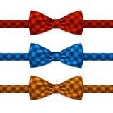 Wektorowy łęku krawat Bowtie Ustawiający Odizolowywającym na bielu Zdjęcia Royalty Free