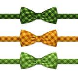 Wektorowy łęku krawat Bowtie Ustawiający Odizolowywającym na bielu Zdjęcia Stock
