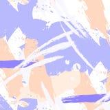 Wektorowy łatwy brushstroke wzór w pastelowych kolorach Minimalnych ubrań ekspresyjni uderzenia Farby pojęcia ręka rysujący proje royalty ilustracja