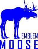 Wektorowy łosia amerykańskiego byka loga etykietki emblemat Obraz Royalty Free