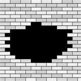 Wektorowy ściana z cegieł z dziury i próbki tekstem - biel ilustracja wektor