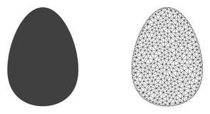 Wektorowy ścierwo siatki jajko i mieszkanie ikona ilustracja wektor