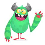Wektorowy śliczny caroon obcy Halloweenowy potwora charakter ilustracja wektor