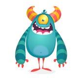 Wektorowy śliczny caroon obcy Halloweenowy potwora charakter ilustracji