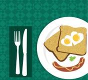 Wektorowy śniadanie Zdjęcia Stock