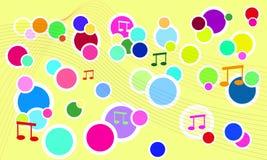 Wektorowy świeży muzyczny tło Zdjęcie Stock