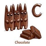Wektorowy abecadło list C czekolada Zdjęcia Royalty Free