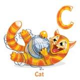 Wektorowy abecadło list C kot Fotografia Stock