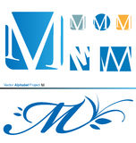 Wektorowy abecadło projekt M 2 Obrazy Royalty Free