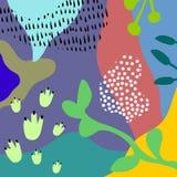 Wektorowy Abstrakcjonistyczny artystyczny kwiecisty chodnikowa tło Obraz Stock