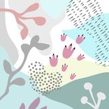 Wektorowy Abstrakcjonistyczny artystyczny kwiecisty chodnikowa tło Zdjęcie Royalty Free