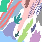 Wektorowy Abstrakcjonistyczny artystyczny kwiecisty chodnikowa tło Obrazy Royalty Free