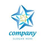 Błękitnej gwiazdy logo Obraz Royalty Free