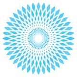 Wektorowy abstrakcjonistyczny błękitny okręgu kwiat royalty ilustracja