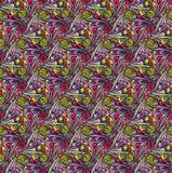Wektorowy abstrakcjonistyczny bezszwowy wzór. Projekta szablon royalty ilustracja