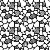 Wektorowy abstrakcjonistyczny bezszwowy wzór z płytkami wewnątrz Obrazy Royalty Free