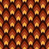 Wektorowy abstrakcjonistyczny bezszwowy wzór z śpiczastymi owalami Obrazy Royalty Free