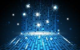 Wektorowy abstrakcjonistyczny cyfrowy prostokąta wzoru technologii pojęcia tło Obrazy Stock