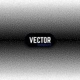 Wektorowy abstrakcjonistyczny czarny i biały kropkowany gradientowy tło Zdjęcia Stock