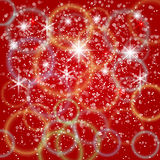 Wektorowy abstrakcjonistyczny czerwony tło z bokeh i Fotografia Royalty Free