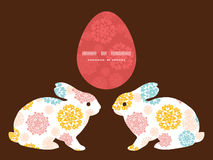 Wektorowy abstrakcjonistyczny dekoracyjny okrąg gwiazd królik Obrazy Stock