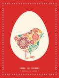 Wektorowy abstrakcjonistyczny dekoracyjny okręgu kurczak Obrazy Royalty Free