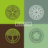 Wektorowy abstrakcjonistyczny emblemat - ekologia Obraz Royalty Free