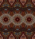 Wektorowy abstrakcjonistyczny etniczny hindusa wzór plemienny royalty ilustracja
