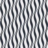 Wektorowy abstrakcjonistyczny falowy wzór Monochromatyczna tekstura Zdjęcia Stock