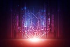 Wektorowy Abstrakcjonistyczny futurystyczny technologii tła pojęcie, Ilustracyjny wysoki cyfrowy ilustracji