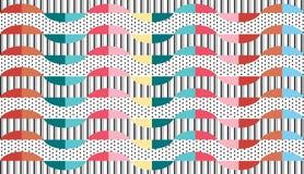 Wektorowy abstrakcjonistyczny geometryczny deseniowy tło Obraz Royalty Free