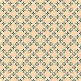 Wektorowy abstrakcjonistyczny geometryczny kwiecisty bezszwowy ornamentu wzór w dębniku i cyraneczka barwimy royalty ilustracja