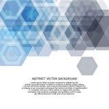 Wektorowy Abstrakcjonistyczny geometryczny tło Broszurka projekta szablon Tworzy błękitnego sześciokąt 10 eps ilustracja wektor