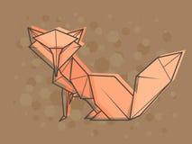 Wektorowy abstrakcjonistyczny ilustracyjny lis Fotografia Stock