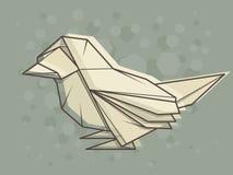 Wektorowy abstrakcjonistyczny ilustracyjny wróbel Zdjęcie Stock