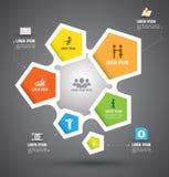 Wektorowy abstrakcjonistyczny infographics Obrazy Stock