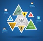 Wektorowy abstrakcjonistyczny infographics Fotografia Stock