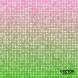 Wektorowy abstrakcjonistyczny jaskrawy mozaika gradientu zieleni menchii tło Fotografia Royalty Free