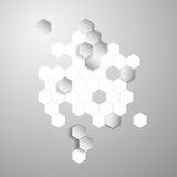 Wektorowy abstrakcjonistyczny kolor 3d heksagonalny honeycombs Obraz Stock