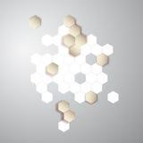 Wektorowy abstrakcjonistyczny kolor 3d heksagonalny honeycombs Zdjęcia Stock
