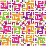 Wektorowy abstrakcjonistyczny kolorowy bezszwowy deseniowy backgrou Obraz Stock