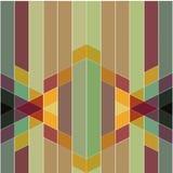 Wektorowy abstrakcjonistyczny kolorowy geometryczny deseniowy retro i art deco st Fotografia Royalty Free