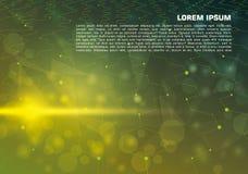 Wektorowy abstrakcjonistyczny kolorowy tło z zieloną liną Obrazy Stock