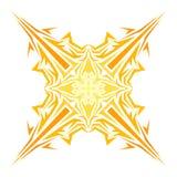 Wektorowy abstrakcjonistyczny koloru żółtego wzór Fotografia Stock